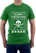 Short Sleeve Graphic Tee Christmas Solid T-Shirts for Men