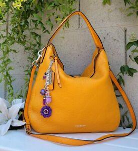 COACH BLEECKER SULLIVAN HOBO Crossbody mandarin PEBBLED LEATHER F31623 purse bag
