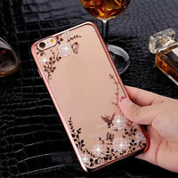 Luxury Clear Crystal Diamond Soft TPU Silicone Phone Case Cover for iPhone 6/6s