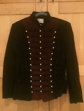 *VINTAGE* EREZ LEVY Suede Sgt. Pepper Military Marching Band Jacket - Size 6