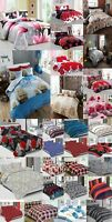 4PC COMPLETE SET BEDDING DUVET QUILT COVER FITTED SHEET COTTON TOUCH BOYS GIRLS