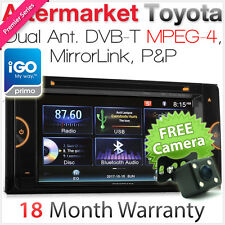"6.75"" Car DVD GPS Player For Toyota Camry Corolla 86 GT Digital TV Stereo Radio"