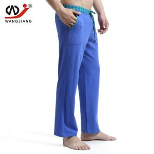 Men's Solid Color Trousers Comfortable Home Sleeping Pants Low-waist Casual Pant