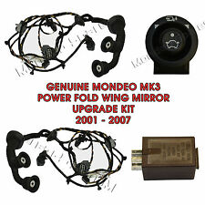 FORD MONDEO MK3 POWER FOLD WING MIRROR UPGRADE KIT WIRING RELAY SWITCH 2001-2007