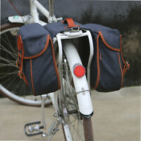 Tourbon Bike Double Pannier Set Cycling Rear Rack Bag Travel Large Canvas
