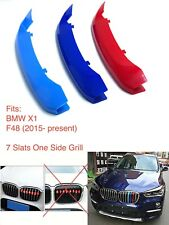 M POWER SPORT LOGO KIDNEY GRILL 3 COLOUR COVER ABS 3 STRIPS BMW X1 SERIES F48