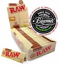 24 RAW ORGANIC Hemp Gum Vegan Rolling Papers Full Box Natural Paper 1 1/4 Size