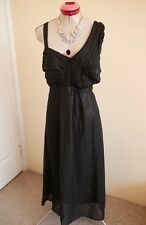 AUTOGRAPH Black Shimmer LONG DRESS Size 20 BNWT NEW Cocktail Evening Party