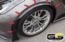 C7 Corvette Z06 Grand Sport Front Wheel Moldings Spats Painted Carbon Flash