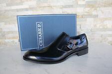 Cesare P. Paciotti 41 7 Slipper Halbschuhe Business Schuhe schwarz NEU UVP 300 €