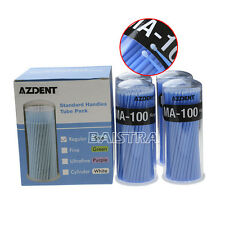 400Pcs Dental Disposable Micro applicators Brushes Regular Blue MA-100