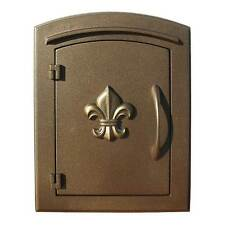 "Manchester NON-LOCKING ""Decorative Fleur De Lis Door"" Column Mount Mailbox"