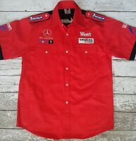 Mercedes Benz McLaren West Formula One F1 Pit Crew Shirt Red Size XL