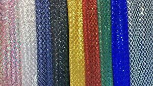 Square Embroidery Sequined Mesh Lace Fabric Show Dress gown 51'' wide 1 Yard