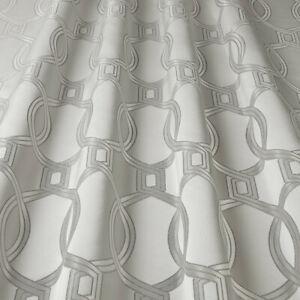 Aria Zinc - By iliv - Geometric, Woven Fabric - 2 Metre Piece