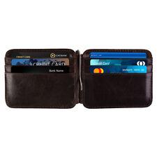 Money Clip  Front Pocket Minimalist Genuine Leather Mens Vintage Slim Wallet
