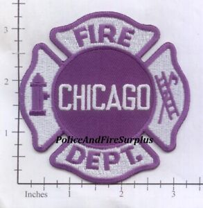 Illinois - Chicago IL Fire Dept Patch - Purple - CHARITY FUND RAISER !