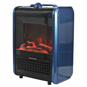 Comfort Zone CZFP1 Mini Ceramic Tabletop Fireplace Heater for Indoor Use