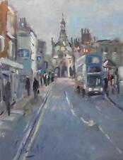 Chichester with Bus : Original Impressionist Oil Painting by Andre Pallat