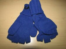 Wome'n Warm Winter Knit Fingerless Flip Top Cover Mittens Convertible Gloves NWT