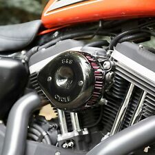 S&S Black Mini A goccia Stealth Air Cleaner Kit For Harley Sportster 2007-Up