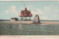 Bug Light,Boston Harbor- Leighton Suffolk County- Vintage Postcard Massachusetts