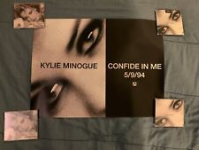 "Kylie Minogue ""Confide in Me"" Scarce Promotional Record Shop Poster Australia"