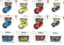 Lot de 12 Peugeot 207 3 Portes (3 Rouge, 3 Noir, 3 Jaune, 3 Bleu) 1/64 NOREV Neu