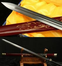 "42"" RED SAYA HAS DRAGON 1060 CARBON STEEL SHARP CHINESE HAN SWORD 汉剑"