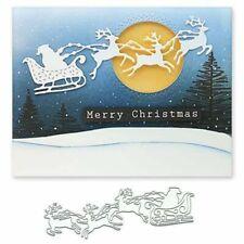 Elk Santa Metal Cutting Dies Stencil Scrapbookings Album Paper Card Decor