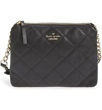 Kate Spade New York Emerson Place Harbor Leather Crossbody Shoulder Bag (Black)