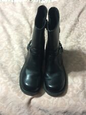Harley Davidson 6.5 womens Black Leather  Harness Biker Moto Zip Boot 81026