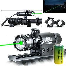 Hunting Rifle Green Laser Sight Dot Gun 532nm Scope Rail Remote Switch +16340 US