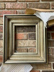 """Antiqued Platinum and Black 8""""x 10""""Chunky Picture Frame-New/Unused-4 1/2"""" Wide"""
