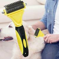 Professional Pet Grooming Undercoat Rake Comb Dematting Tool Cat Dog Brush New