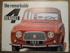 RENAULT 4 orig 1962 Larger Format UK Mkt Sales Brochure