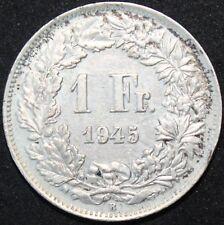 1945   Switzerland 1 Franc   Silver   Coins   KM Coins