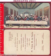 655 SANTINO HOLY CARD GESù ULTIMA CENA SACRAMENTO SACERDOZIO VENEZIA GODIA