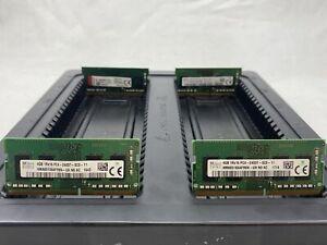 LOT 4 HYNIX KINGSTON 4GB 1Rx16 DDR4 PC4-2400T 19200MB/S NONECC SODIMM MEMORY RAM