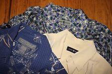 Lot of 3~Mens Size L~100% SILK~Summer Shirts~Tori Richard~Cotton Traders~Comfort