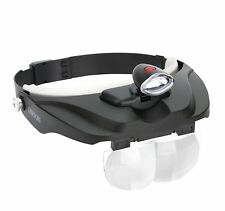Carson Optical Pro Series MagniVisor Deluxe Head-Worn Led Lighted Magnifier with