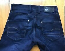 Gstar dark wash blue jeans mens size 31 Revend Super Slim length 30 exc cond
