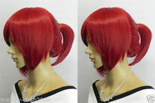 New straight supple party woman's full hair cosplay wig ponytail
