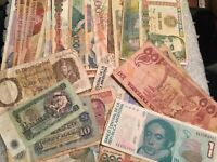 35 Pcs of Different Unique World Foreign Banknotes,Currency, UNC + Circ. Lot