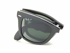 New Ray Ban Folding Wayfarer RB4105 601/58 Blk/Green Polar 50mm Sunglasses