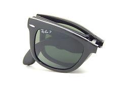 New Ray Ban Folding Wayfarer RB4105 601/58 Black/Green Polar 54mm Sunglasses