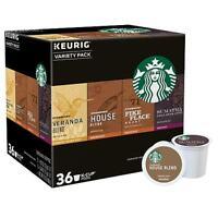 36 Starbucks Variety Pack K Cups Keurig House Blend Pike Place Sumatra Veranda