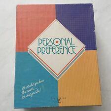 Vintage Personal Preference Board Game Broderbund Games