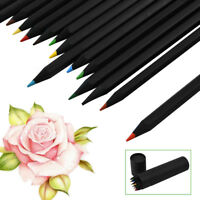 24X Charcoal Pencils Drawing Sketch Set Colour Art Craft Painting Sketching Kit