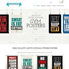 Gym-Posters.com - Website Internet Business For Sale Posters Design Fitness Gym